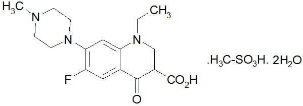 Пефлоксацина мезилат-Pefloxacin mesilate dihydrate Антибиотики