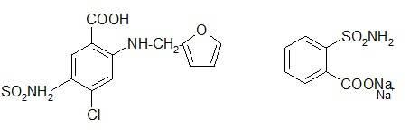 Фуросемид, Сахаринат натрия