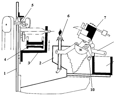 Схема работы запаечного узла ампул