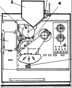 Устройство машины для запайки ампул с инертной средой