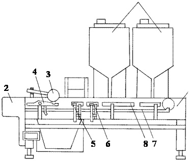 Приставка к стеклоформующему автомату для резки ампулы