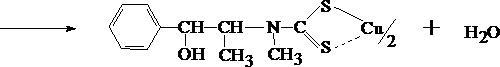 Реакция с солями меди и сероуглеродом
