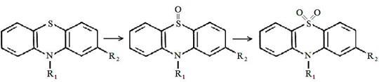окисление гетероциклического атома серы в сульфоксид