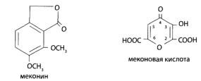Анализ биологических объектов на наличие меконовой кислоты