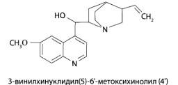 Основным веществом из группы производных хинолина, имеющим токсикологическое значение, является хинин