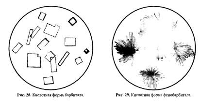 Кислотные формы барбитала и фенобарбитала